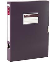 Папка-коробка на липучке Axent 1736-11-A, А4, 36 мм, сливовая
