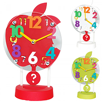 Часы настольные с маятником Apple (белые)