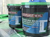 Мастика для приклейки пенопласта битумно-каучуковая на водной основе Izoplast W-KL, ведро 20 кг.