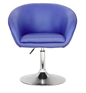 Крісло Мурат SDM м'яке сині хром опора