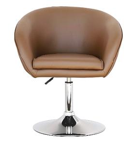 Барне крісло Мурат SDM коричневе на хром опорі млинці