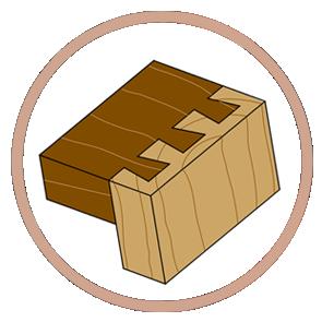 чердачные лестницы ступеньки | соединение ласточкин хвост