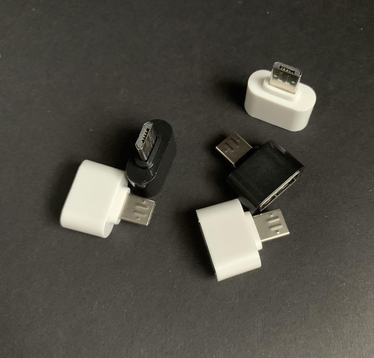 Переходник на флешку к телефону micro-UBS адаптер USB с корпусом