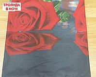 Наволочка бязь 70х70 - Троянда в ночі
