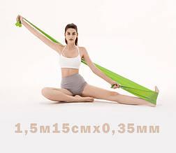 Лента эспандер для пилатеса эспандер лента для фитнеса  эспандер для растяжки (стречинга) 0,35 мм Салатовый