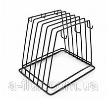 Підставка - тримач для 6 дощок металева чорна 450х230 мм 1270248
