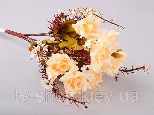 Цветы искусственные букет Роз (в ассорт)