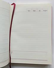 Ежедневник А5 недатированный искуственная кожа бордо, фото 2
