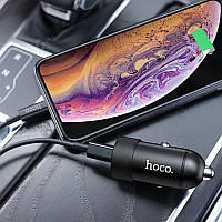 Зарядное АЗУ 1USB Hoco Z32B  + Cable Type-C to iPhone X (4.5A)