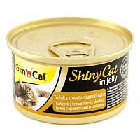 Gimpet Shiny Cat с тунцом, креветкой и мальтом  70гр