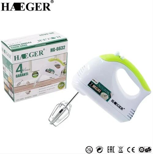 Міксер Haeger HG-6632 ручної TURBO | міксер 7 швидкостей