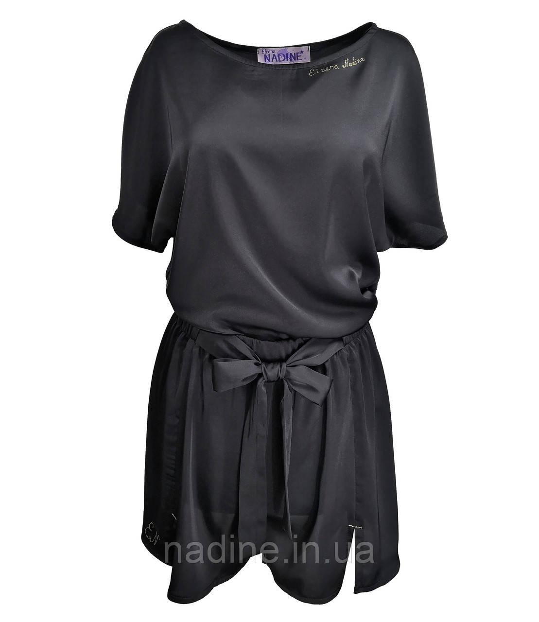Футболка з шортами піжама Eirena Nadine (750-64) чорний на зріст 164