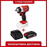 Набор ударный гайковерт бесщеточный Einhell TE-CW 18Li BL - Solo + зарядное устройство и аккумулятор 4,0 Ah