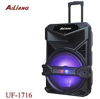 Акумуляторна колонка валізу Ailiang UF-1716 | бездротова Bluetooth 15 дюймова акустика