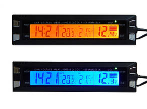 Часы автомобильные ZIRY EC-30 5-in-1 время, дата, напяжение, температура наруж/внутр