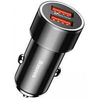 АЗУ 2USB Baseus Small Screw (3.4A) Black Автозаряный адаптер