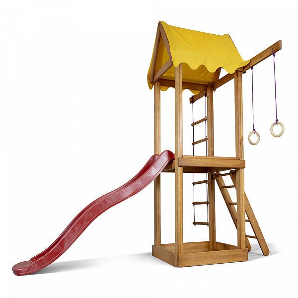 Дитячий спортивний дерев'яний майданчик Babyland-17, розмір 2,4х1,8х1,9м