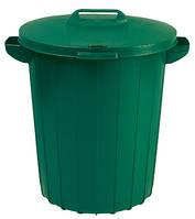 Бак пластиковый с крышкой зеленый 90 л 490Х490Х580 мм Curver CR-0055