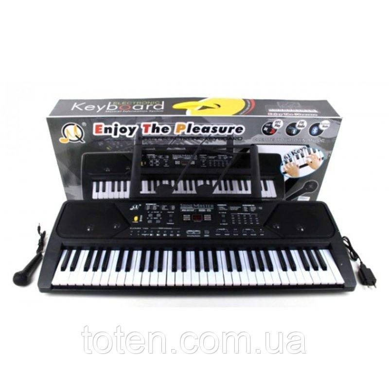Дитячий синтезатор піаніно - FM радіо і мікрофон. LeD дисплей USB від мережі 61 клавіша MQ021UF