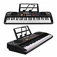 Дитячий синтезатор піаніно - FM радіо і мікрофон. LeD дисплей USB від мережі 61 клавіша MQ021UF, фото 2