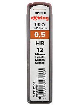 Грифели для механических карандашей 0,5мм ROTRING HB S0312650