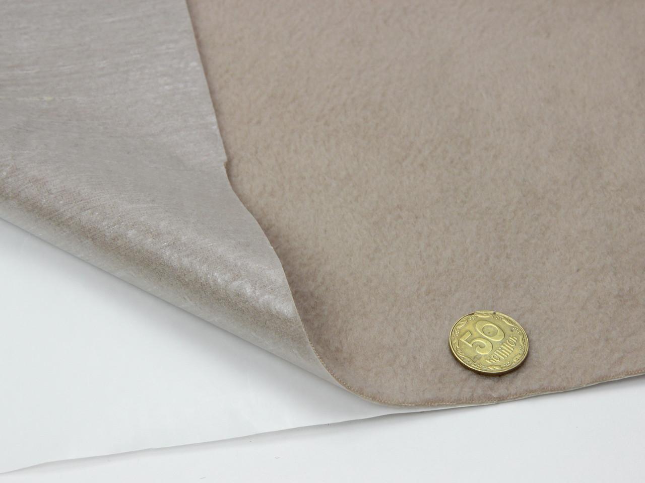 Карпет велюровий бежевий для авто самоклейка, (лист 49х100см), товщина 2.5 мм, площа аркуша 0.49 м2