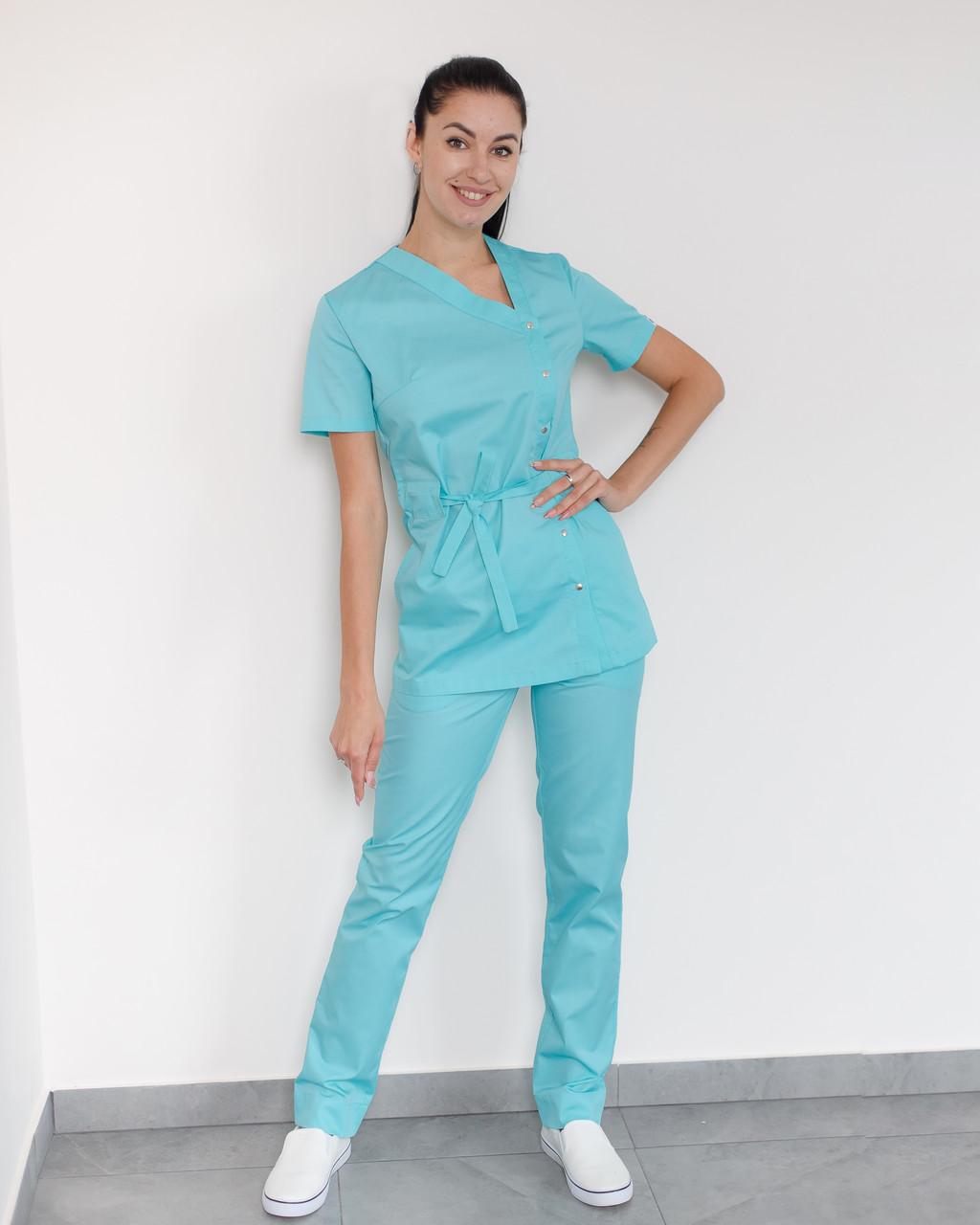 Медицинский женский костюм Наоми (мятный)