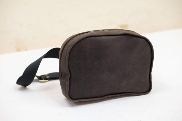 Купить кожаную поясную сумку