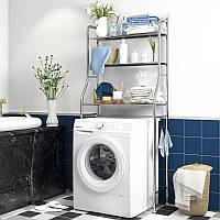 Стелаж для зберігання над пральною машиною Laundry Rack TW-106 Срібляста