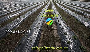 Плівка для мульчування ЧОРНА на 1 сезон ПОЛОТНО 800 мм (1 км) 30 мкм (вага 21-22 кг)