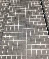 Ткань Бязь Gold Клетка серая 220 см, фото 1