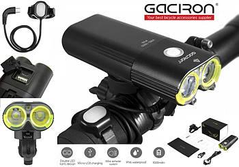 Велосипедный фонарь GACIRON V9D-1600 + Пульт + Power Bank (1600LM, 5000mAh, Аккумулятор 2*18650, USB, IPX6)