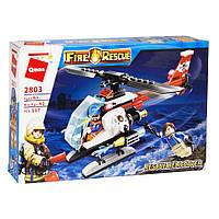 Конструктор типа лего Вертолет Qman 2803, 117 деталей