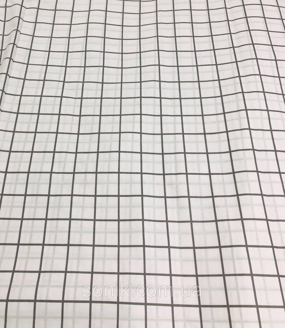 Ткань Бязь Gold Клетка белая 220 см