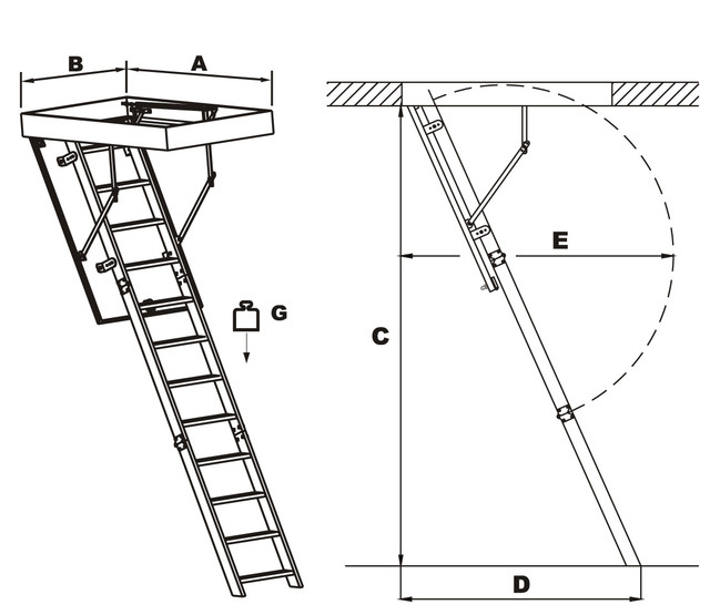 чердачные лестницы польша | деревянные чердачные лестницы