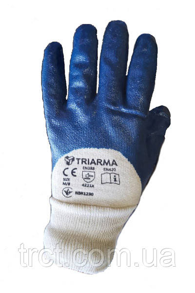 Перчатки TRIARMA нитрильные с неполным покрытием /NBR 1230/