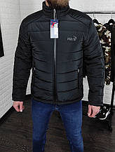 Куртка мужская демисезонная чёрная Сл 1962