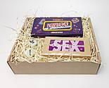 """Игра-набор для взрослых  """"Сладко и страстно"""": 40 пикантных заданий, шоколадная камасутра, кубики с позами, фото 2"""