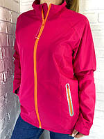 Кофта-ветровка женская спортивная  розовая S.M.L