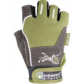 Перчатки для фитнеса и тяжелой атлетики Power System Woman's Power PS-2570 XS Green