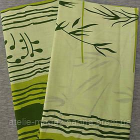 Наволочка на подушку 70*70 Зелёная бамбук