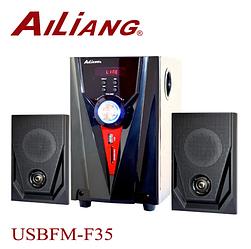 Компьютерные колонки + сабвуфер 2.1 AiLiang USBFM-F35DC-DT (2x3 Вт + 10 Вт)