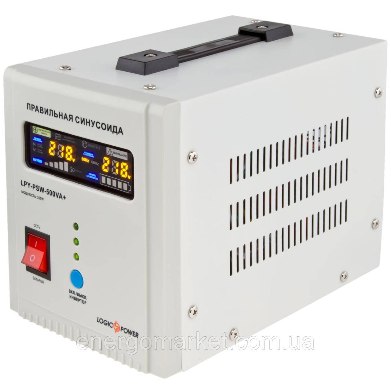 ИБП с правильной синусоидой 12V Logic Power LPY-PSW-500VA+ (350Вт) 5A/10A