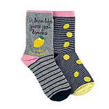 Женские носки Лимон 4 пары в подарочной коробке, фото 4