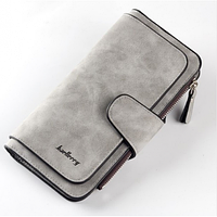 Женский клатч - кошелёк BAELLERY Светло - серый