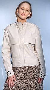 Женская короткая куртка Калиста из экокожи 42-46 р