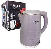 Чайник электрический дисковый Haeger HG-7858 (2.0 л)   электрочайник, фото 1