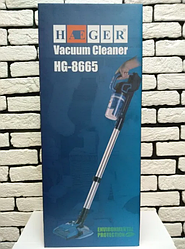 Вакуумний пилосос на акумуляторі Haeger HG-8665 вертикальний | сухе і вологе прибирання