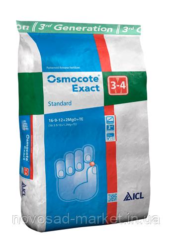 Osmocote Exact Standard 3-4м 16-9-12+2,5 МgО+TE 25 кг
