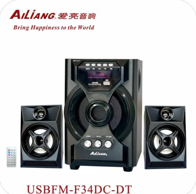 Акустическая система AiLiang USBFM-F34DC-DT (Мощность 10Вт + 3Вт х2)   домашний кинотеатр